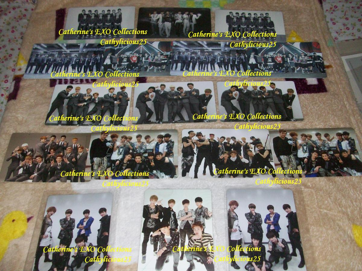 my official korean press exo photo cards ot12  ot6k  ot6m