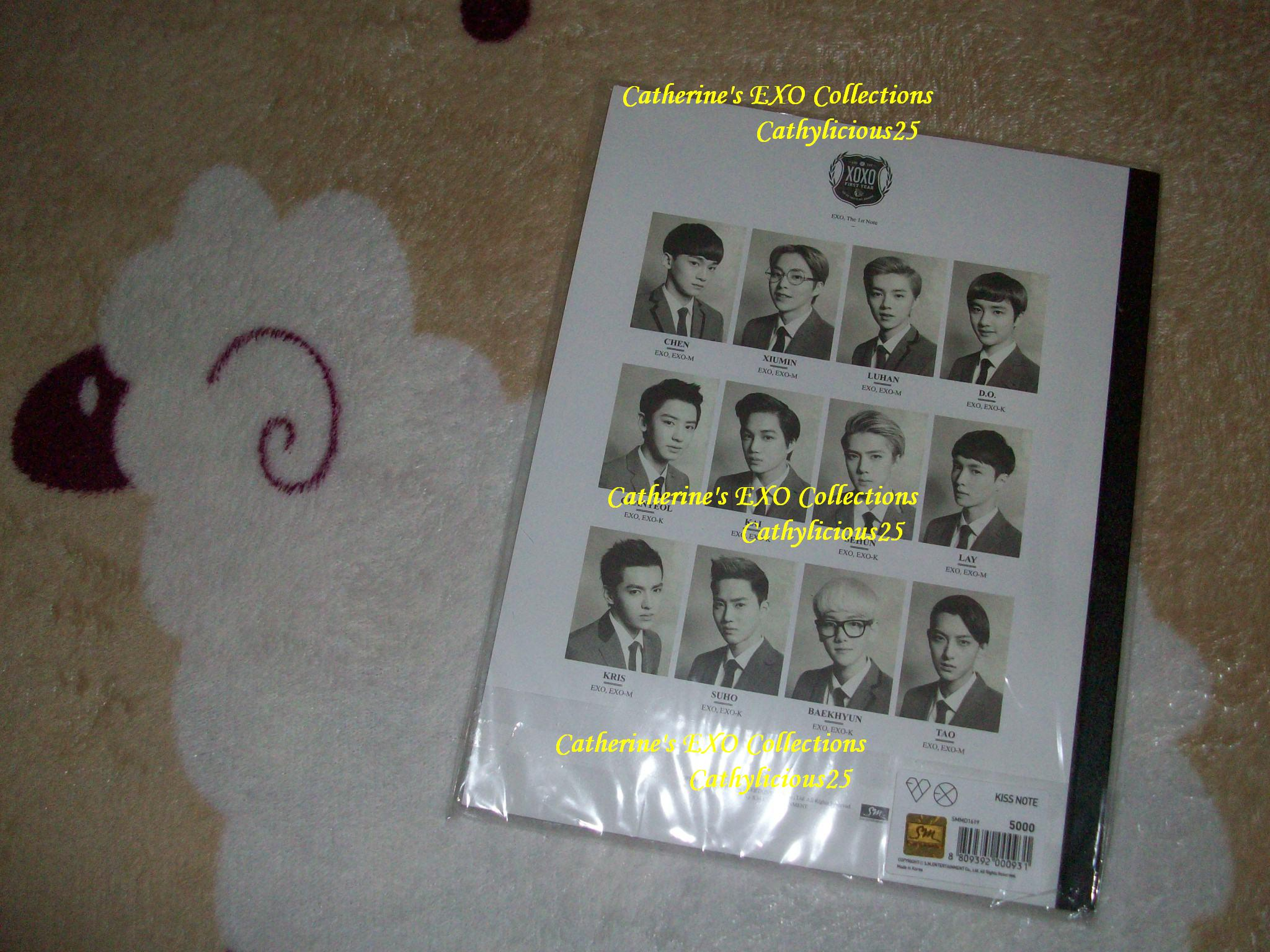 my exo xoxo sm pop up store hug and kiss notes and pens