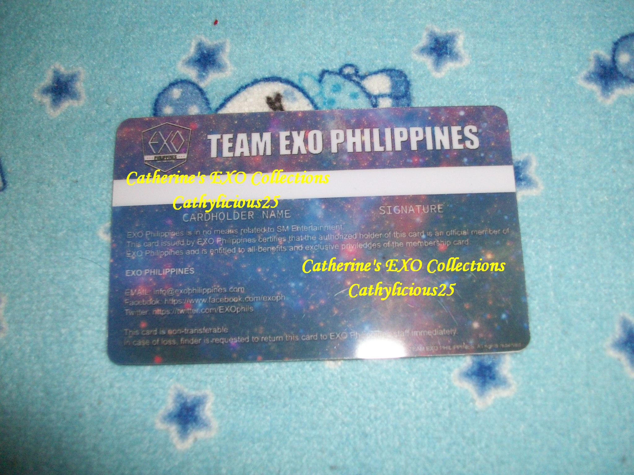 My Exoph Membership Cards My Exo Collections